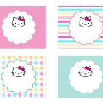Diy Free Hello Kitty Label   Free Birthday Party Decorations   Hello Kitty Labels Printable Free
