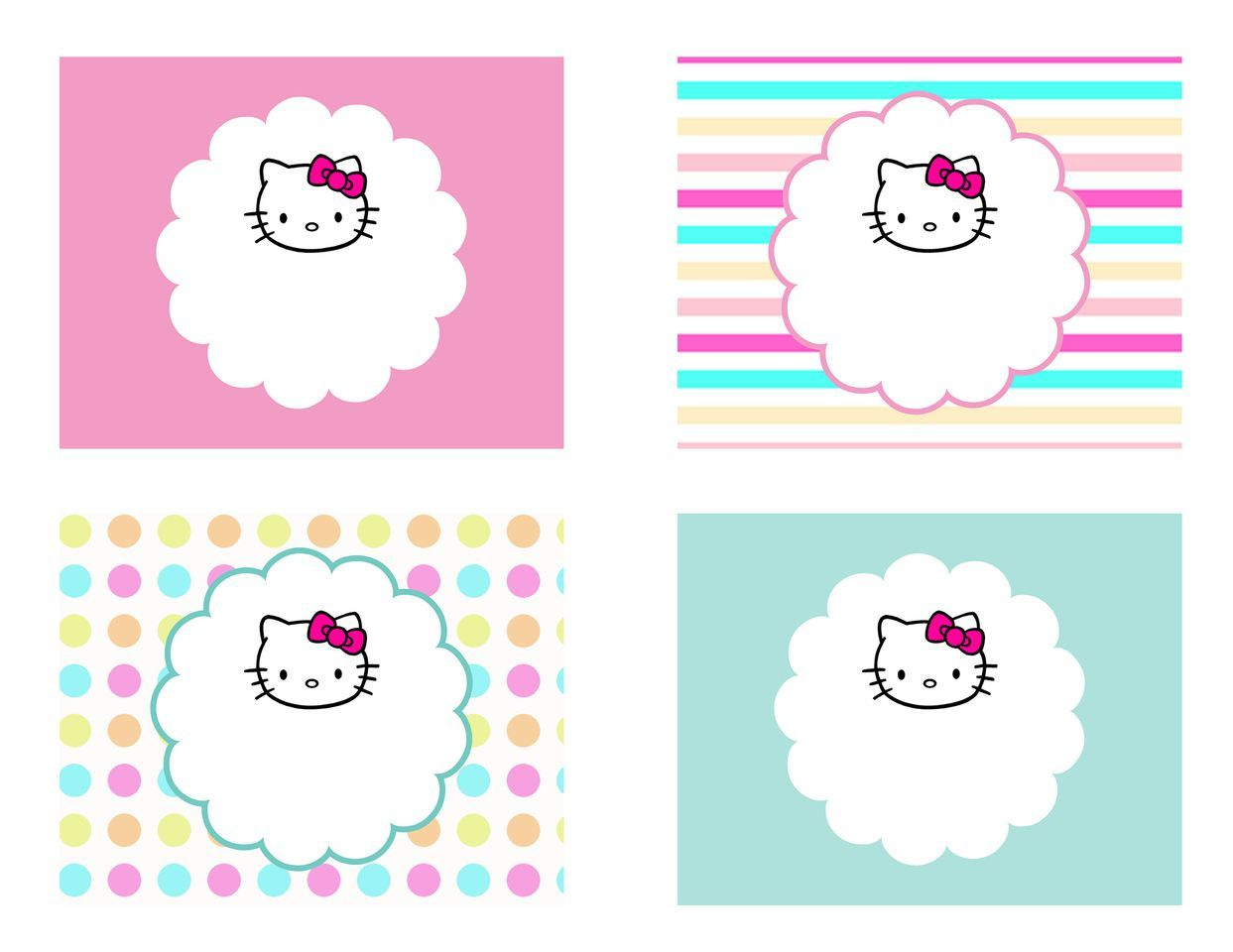 Diy Free Hello Kitty Label   Free Birthday Party Decorations - Hello Kitty Labels Printable Free