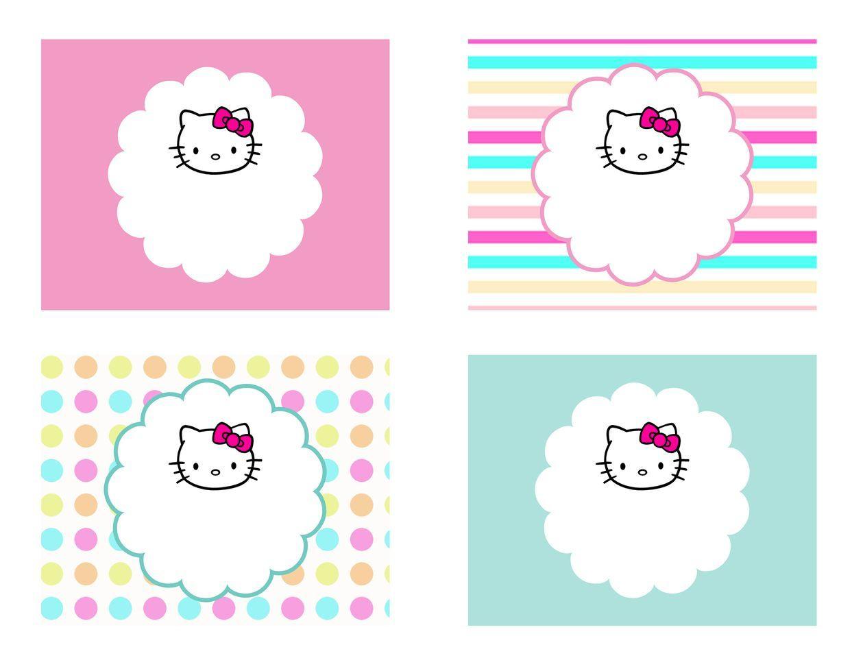 Diy Free Hello Kitty Label   Free Birthday Party Decorations - Hello Kitty Name Tags Printable Free