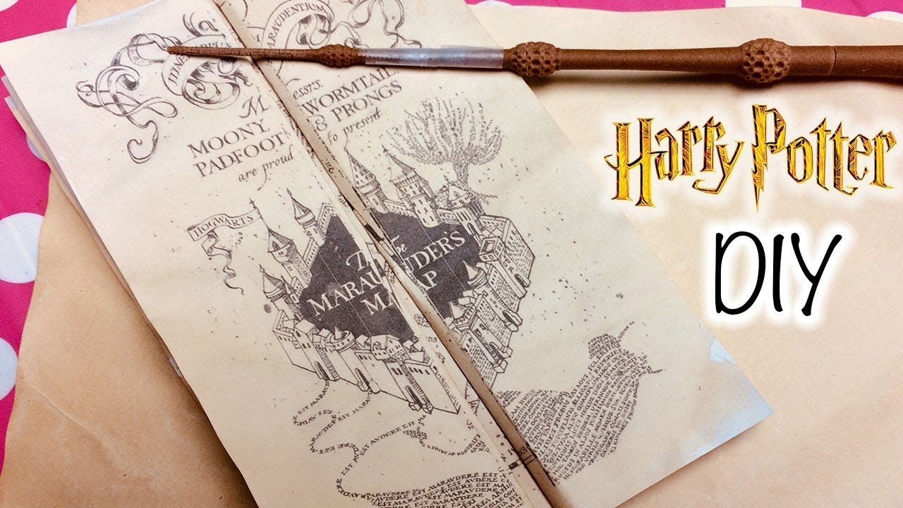 Diy Harry Potter Marauder's Map Printable And Parchment Easy Diy - Free Printable Marauders Map