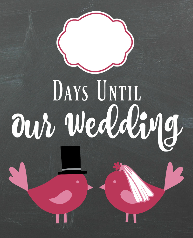 Diy Lovebirds Wedding Countdown Sign | A Bride On A Budget - Free Printable Wedding Countdown