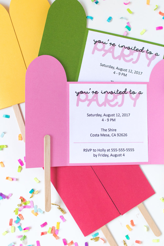Diy Popsicle Invitations + Free Printable!   Club Crafted - Free Printable Popsicle Template