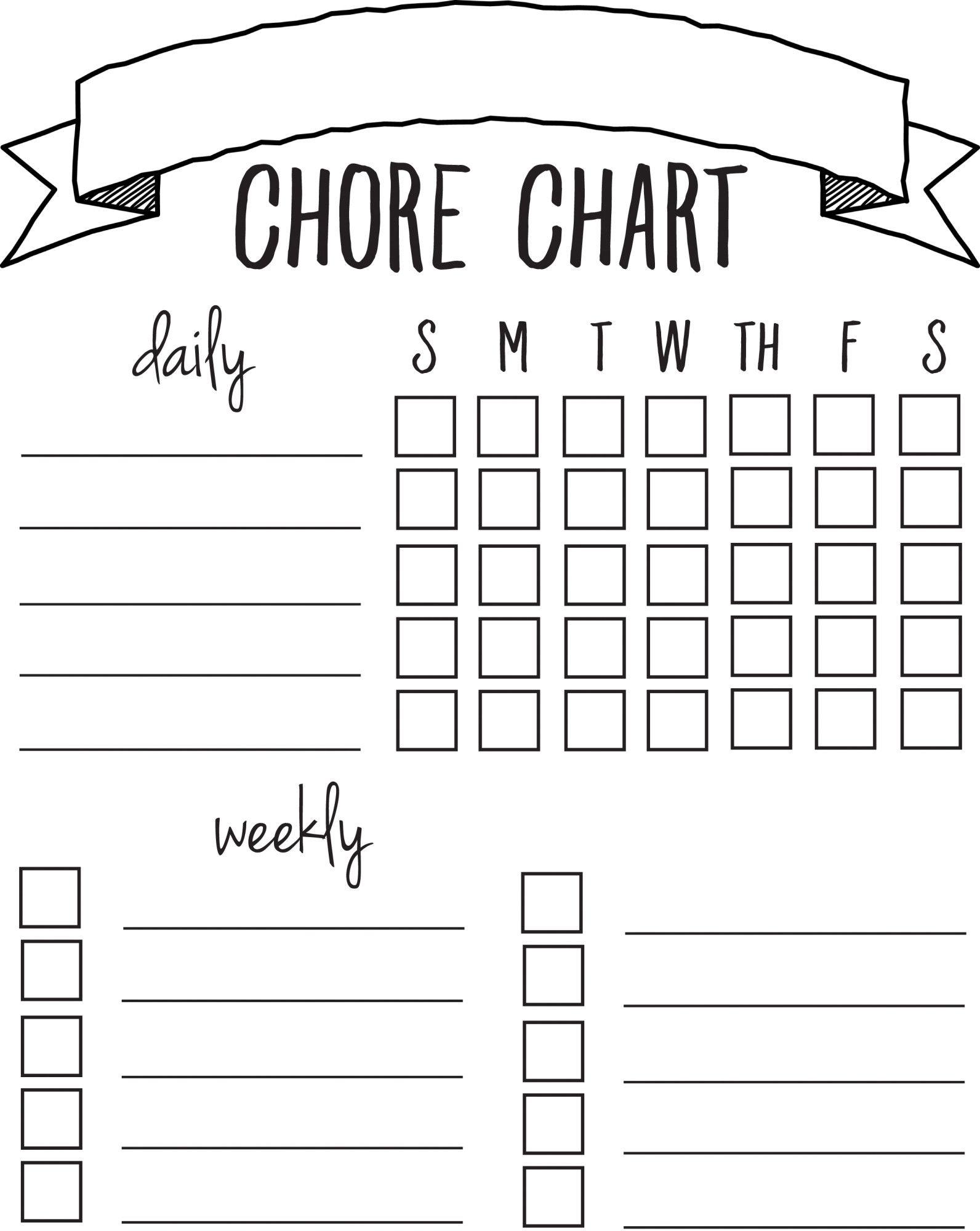 Diy Printable Chore Chart | Free Printables Nov/feb | Pinterest - Free Printable Chore Chart Ideas