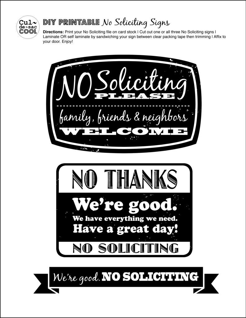 Diy Printable No Soliciting Signs … | No Soliciting Signs | Pinte… - Free Printable No Soliciting Sign