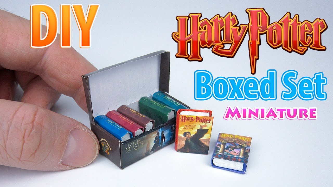 Diy Realistic Miniature Books   Dollhouse   No Polymer Clay! - Youtube - Free Printable Miniature Book Covers