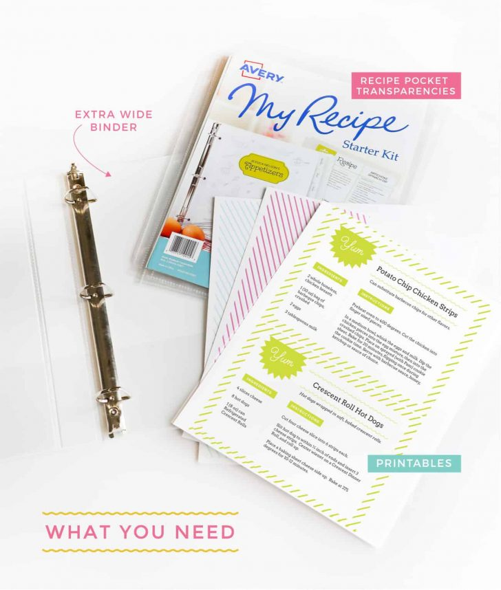 Free Printable Recipe Binder Templates