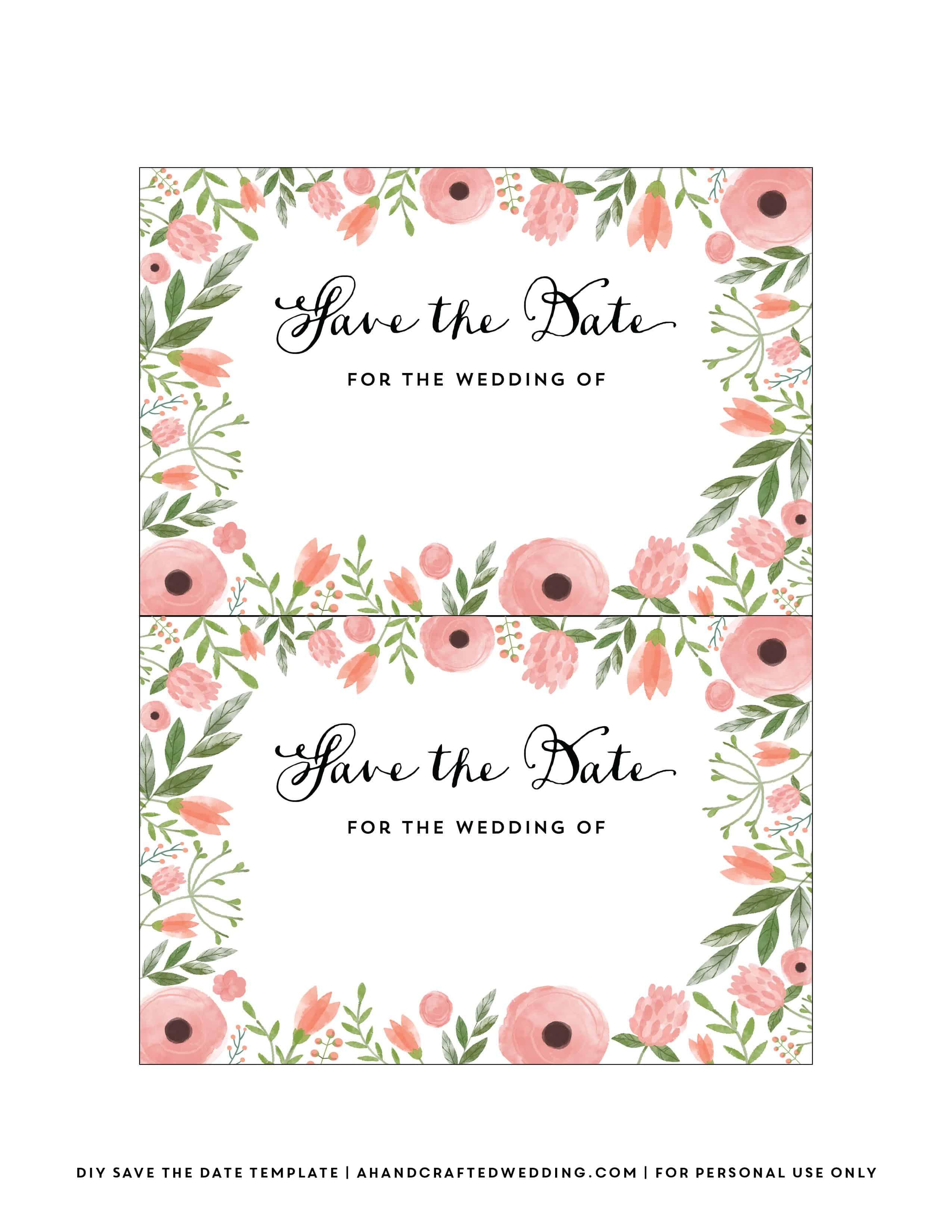 Diy Save The Date Postcard Free Printable | Mountain Modern Life - Free Printable Save The Date Invitation Templates