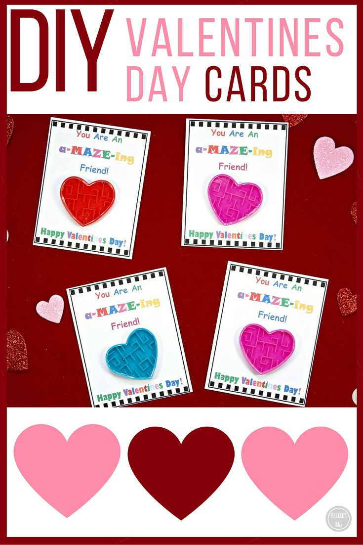 Diy Valentine's Day Cards For Kids With Free Printable! - Bullock's Buzz - Free Printable Childrens Valentines Day Cards