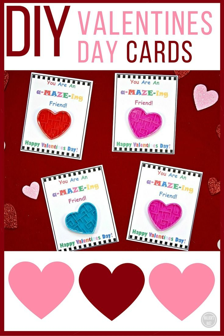 Diy Valentine's Day Cards For Kids With Free Printable - Free Printable Valentines Day Cards For Kids