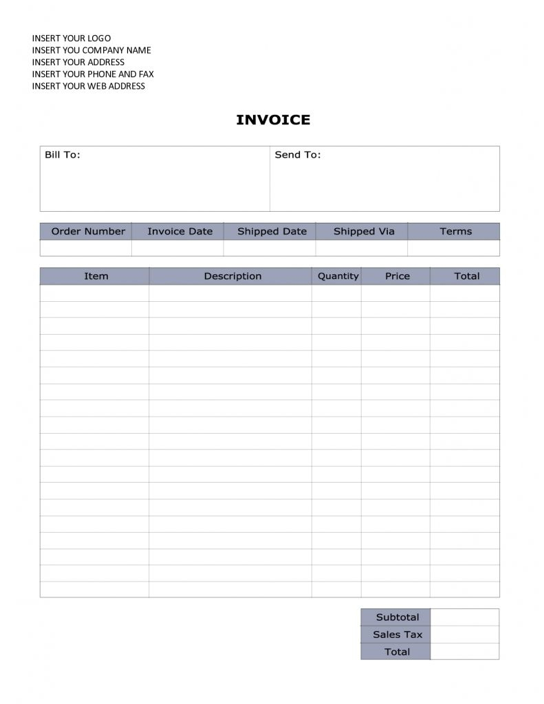 Doc 673952 Invoice Template Word Document Free Format Doc 5 Invoice - Invoice Templates Printable Free Word Doc