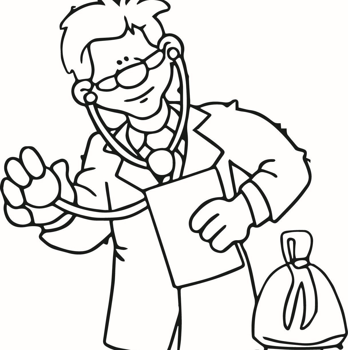 Doctor Coloring Page 10 #50809 - Doctor Coloring Pages Free Printable