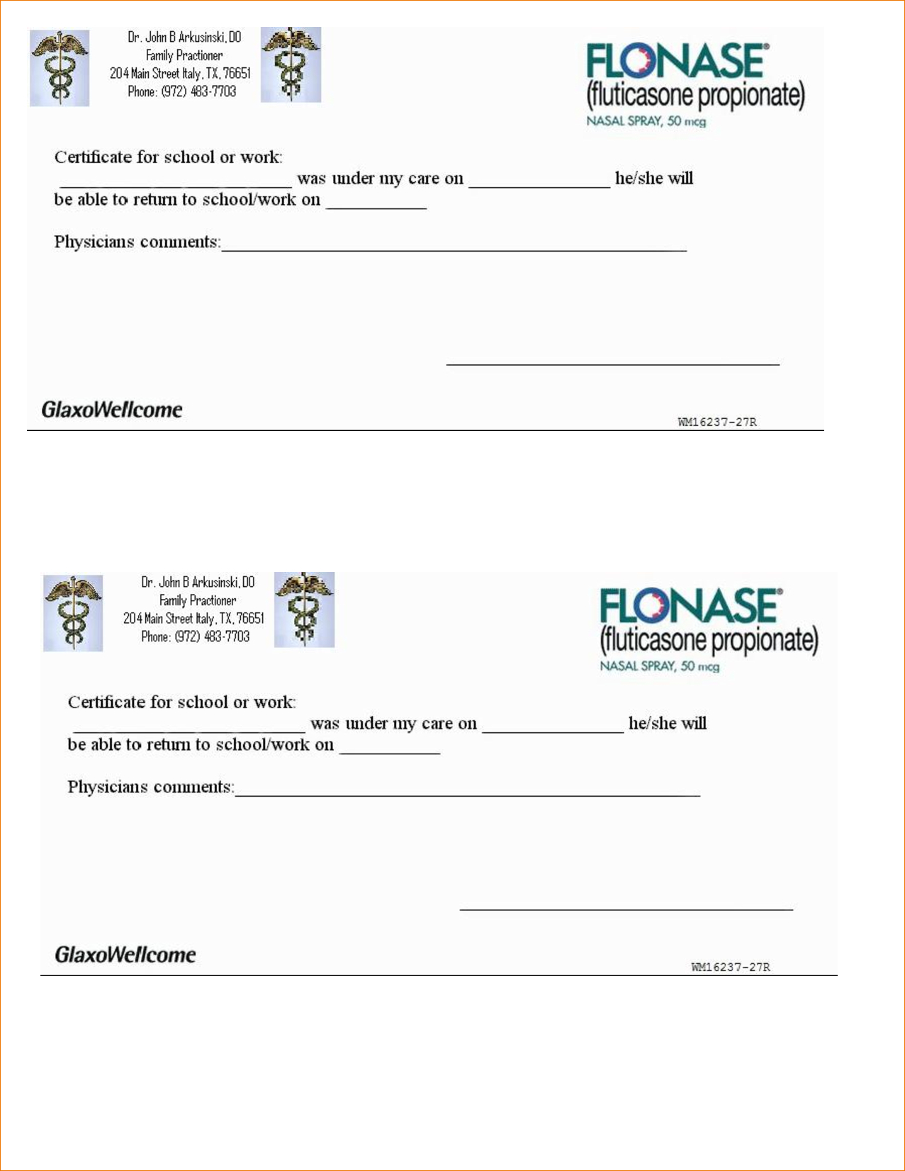 Doctors Excuse For Work Template | Hunecompany - Free Printable Doctor Excuse Slips