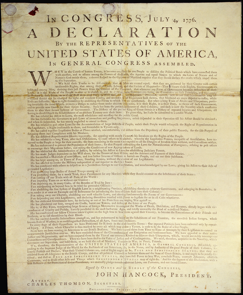 Documents That Changed The World: The Declaration Of Independence's - Free Printable Copy Of The Declaration Of Independence