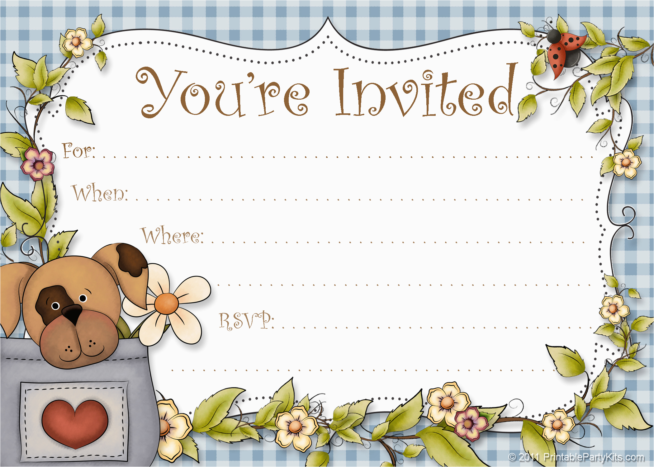 Dog Birthday Party Invitation Templates | Birthdaybuzz - Dog Birthday Invitations Free Printable