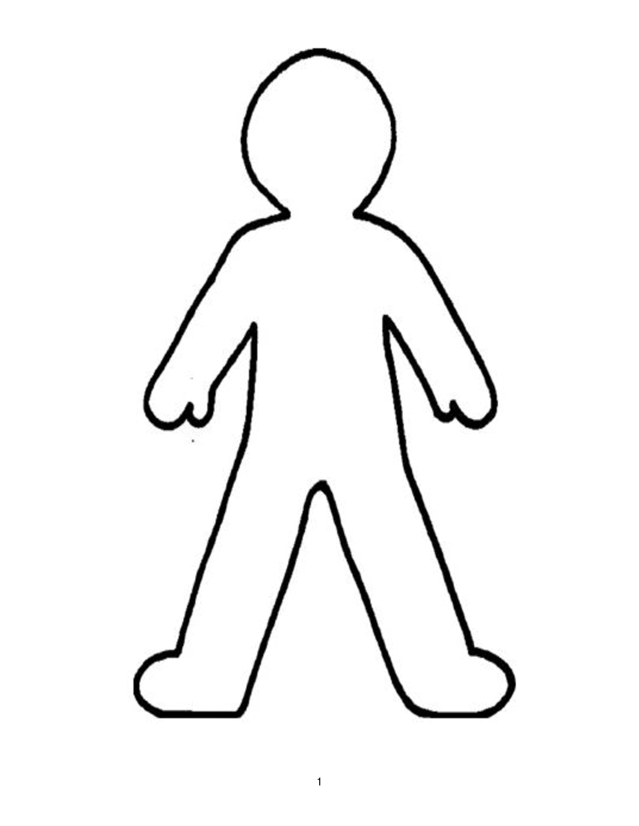 Doll Outline Template - Clipart Best | Printable | Pinterest - Free Printable Human Body Template