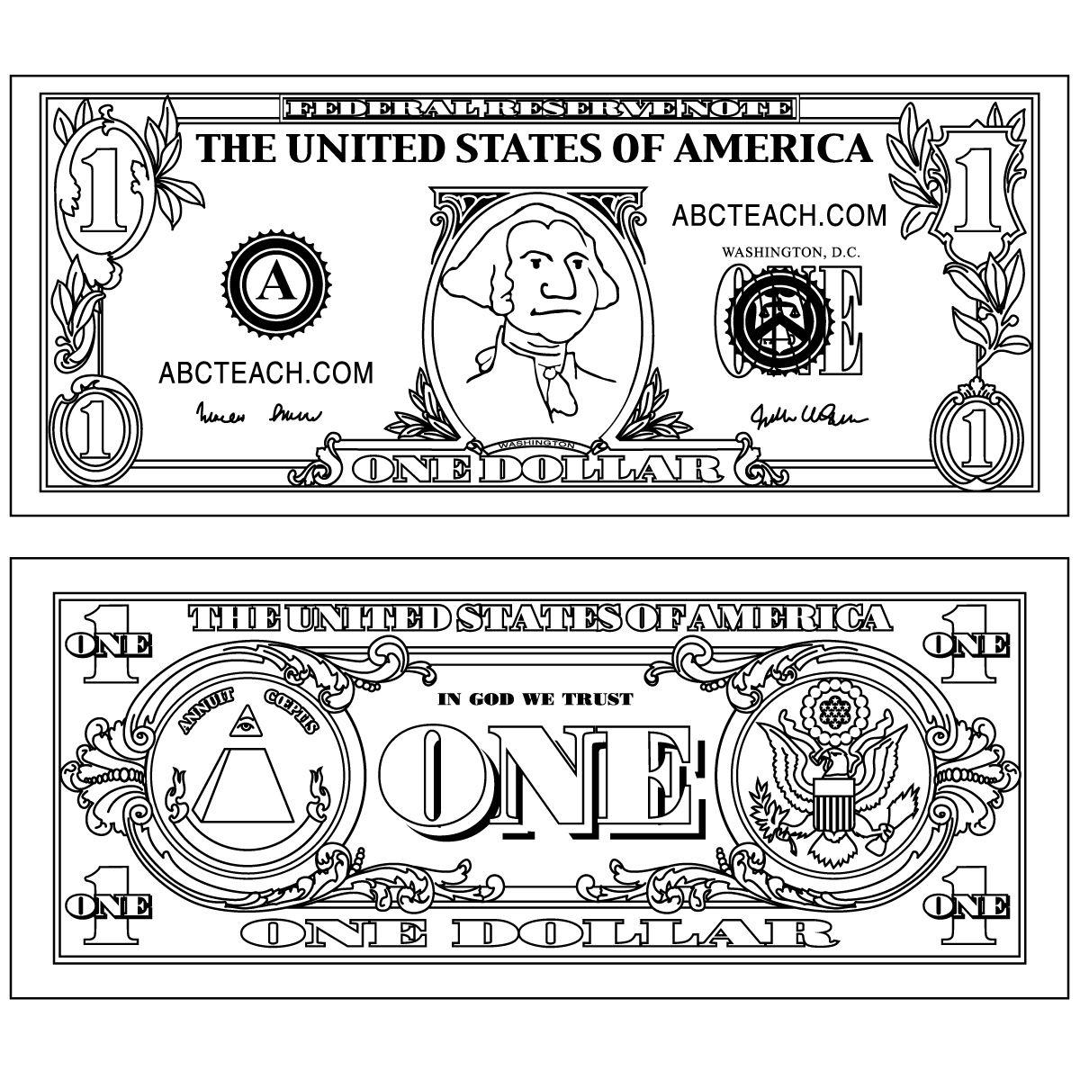 Dollar Bill Craft For George Washington Lesson | School Inspiration - Free Printable George Washington Worksheets