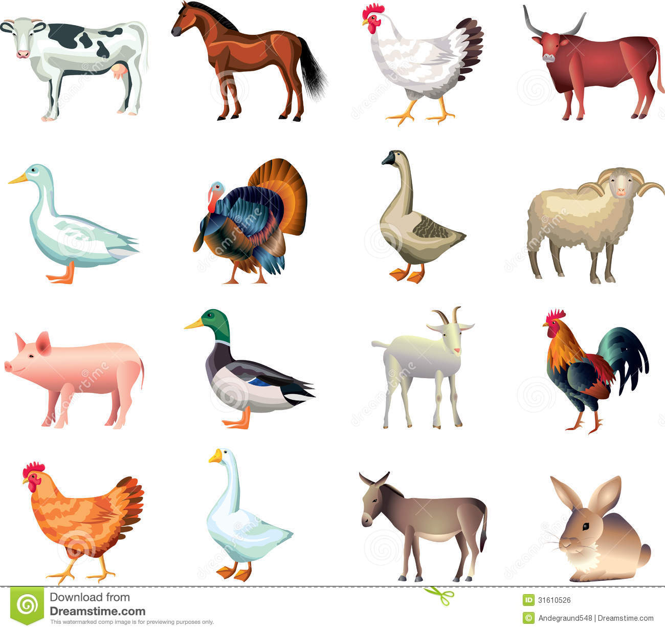 Domestic Animals Clipart Free Collection - Free Printable Farm Animal Clipart