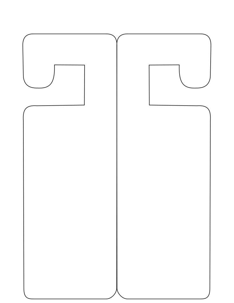 Doorhanger Template - Free To Use | Papercraft Templates | Pinterest - Free Printable Door Hanger Template