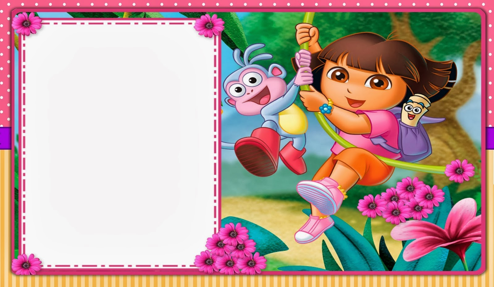 Dora The Explorer: Free Printable Invitations, Boxes And Party - Dora Birthday Cards Free Printable