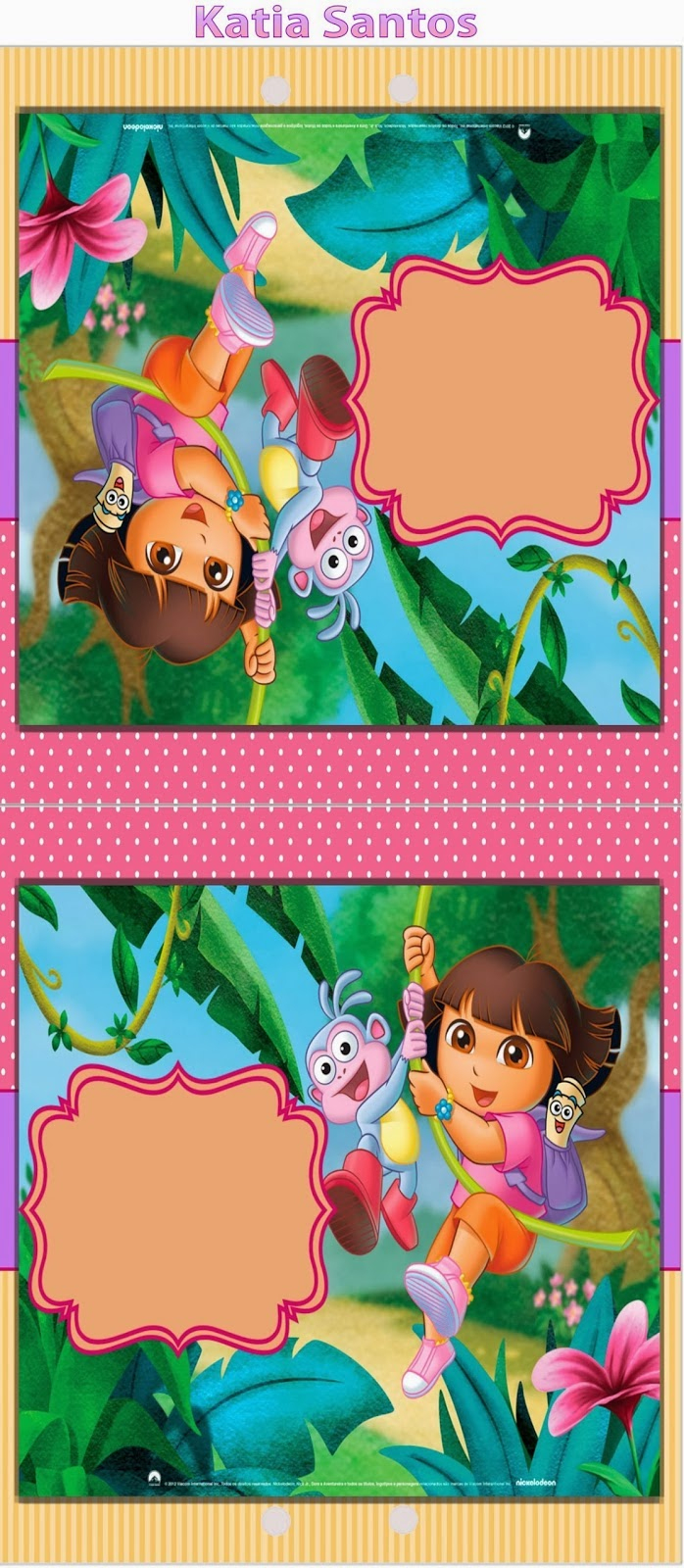 Dora The Explorer Free Printable Invitations