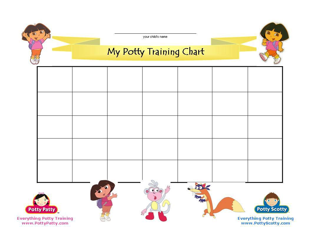 Dora The Explorer Potty Training Chart   Potty Training Concepts - Free Printable Potty Training Charts