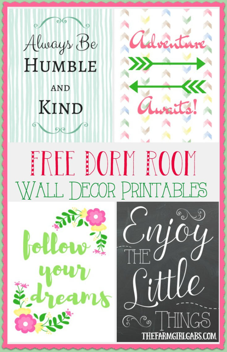 Dorm Room Wall Decor Printables - The Farm Girl Gabs® - Free Printable Decor