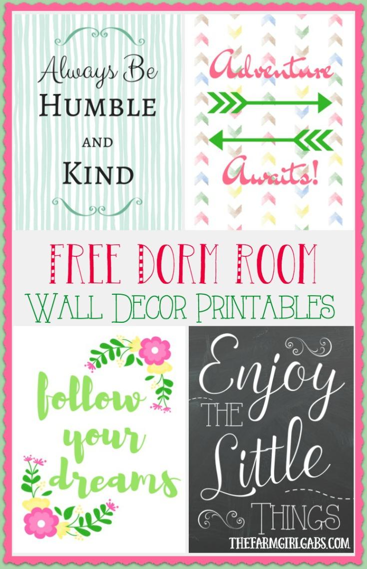 Dorm Room Wall Decor Printables - The Farm Girl Gabs® - Free Printable Decor