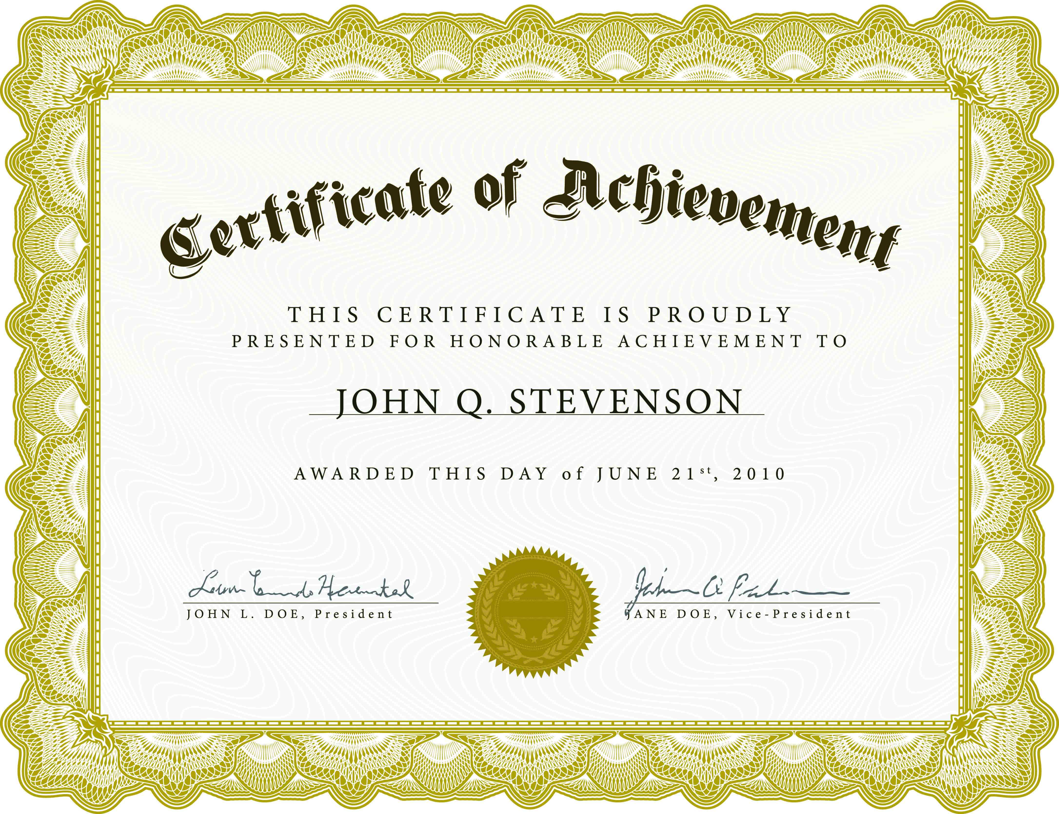 Download Blank Certificate Template X3Hr9Dto | St. Gabriel's Youth - Free Printable Certificates Of Achievement