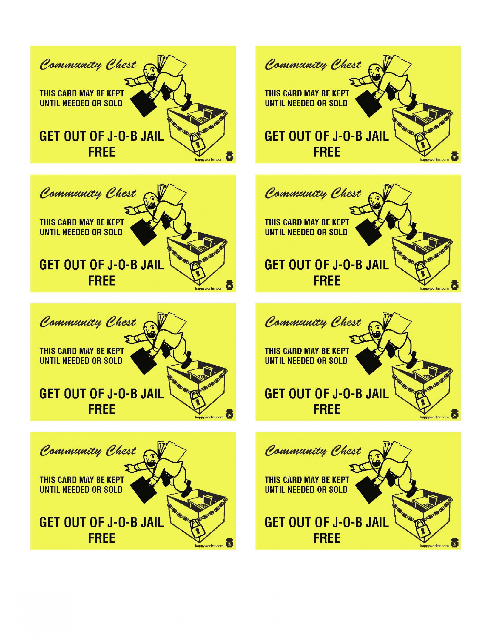 Download Free 15 Best S Of Print Monopoly Chance Cards Monopoly - Get Out Of Jail Free Card Printable