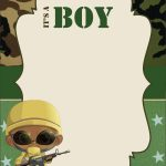 Download Free Camouflage Baby Shower Invitations Templates   Free Printable Camouflage Invitations