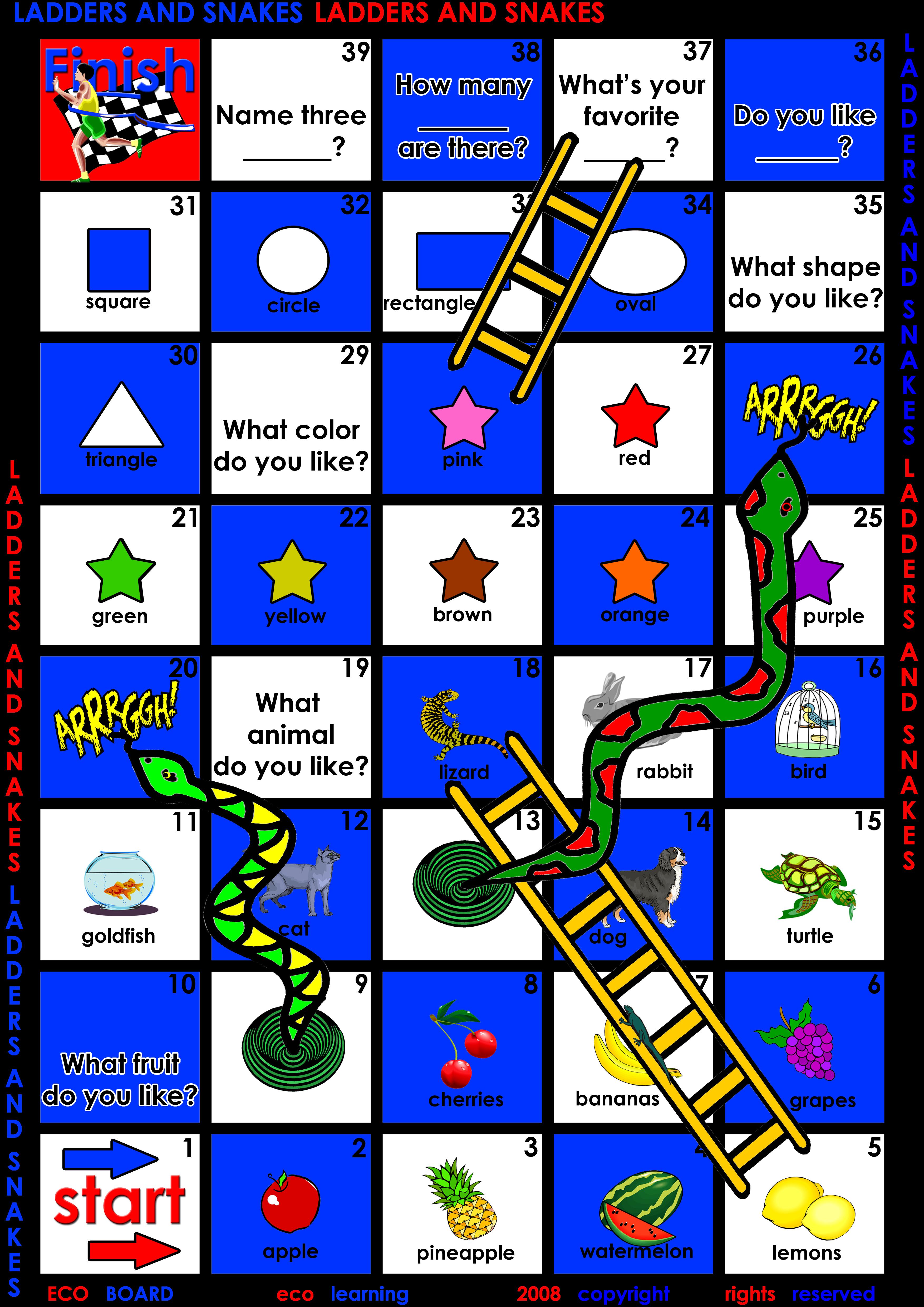Download Free Efl / Esl Board Games For Kids English Teachers - Free Printable English Lessons