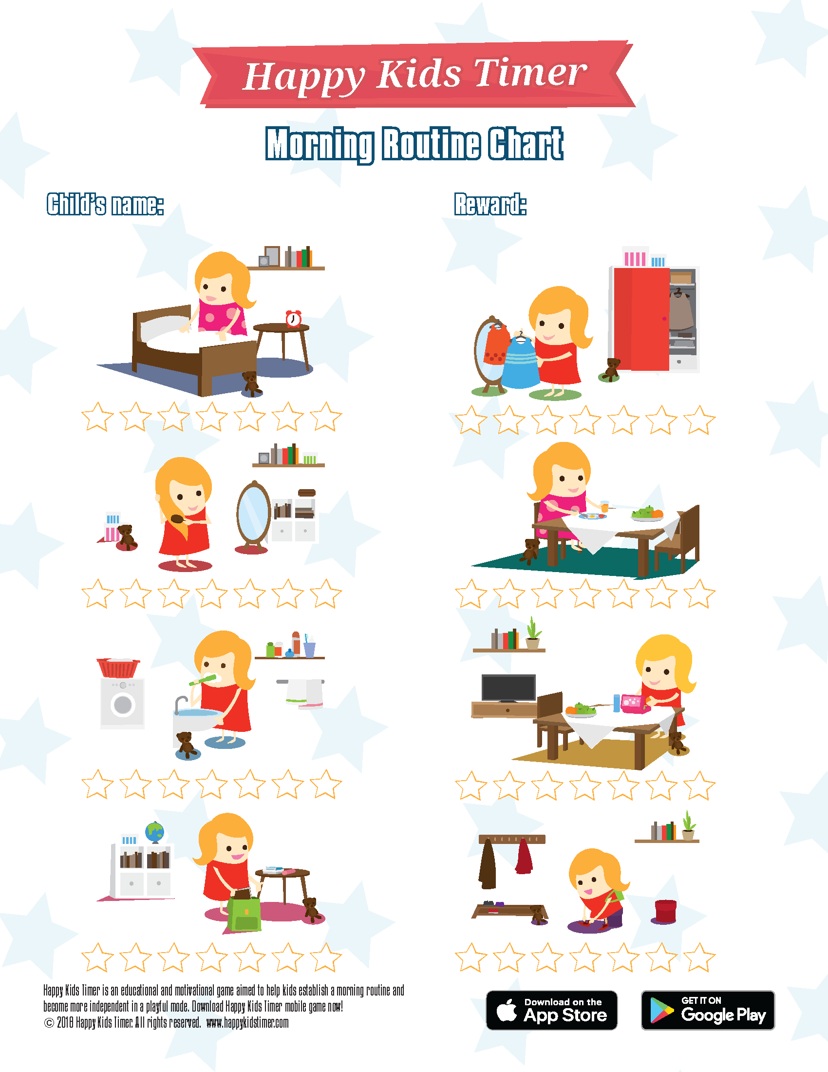 Download Free Printable Morning Routine Chart - Free Printable Morning Routine Chart