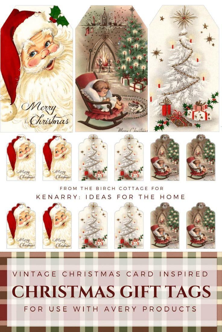 Download Free Printable Vintage Christmas Gift Tags For Holiday - Free Printable Vintage Christmas Images
