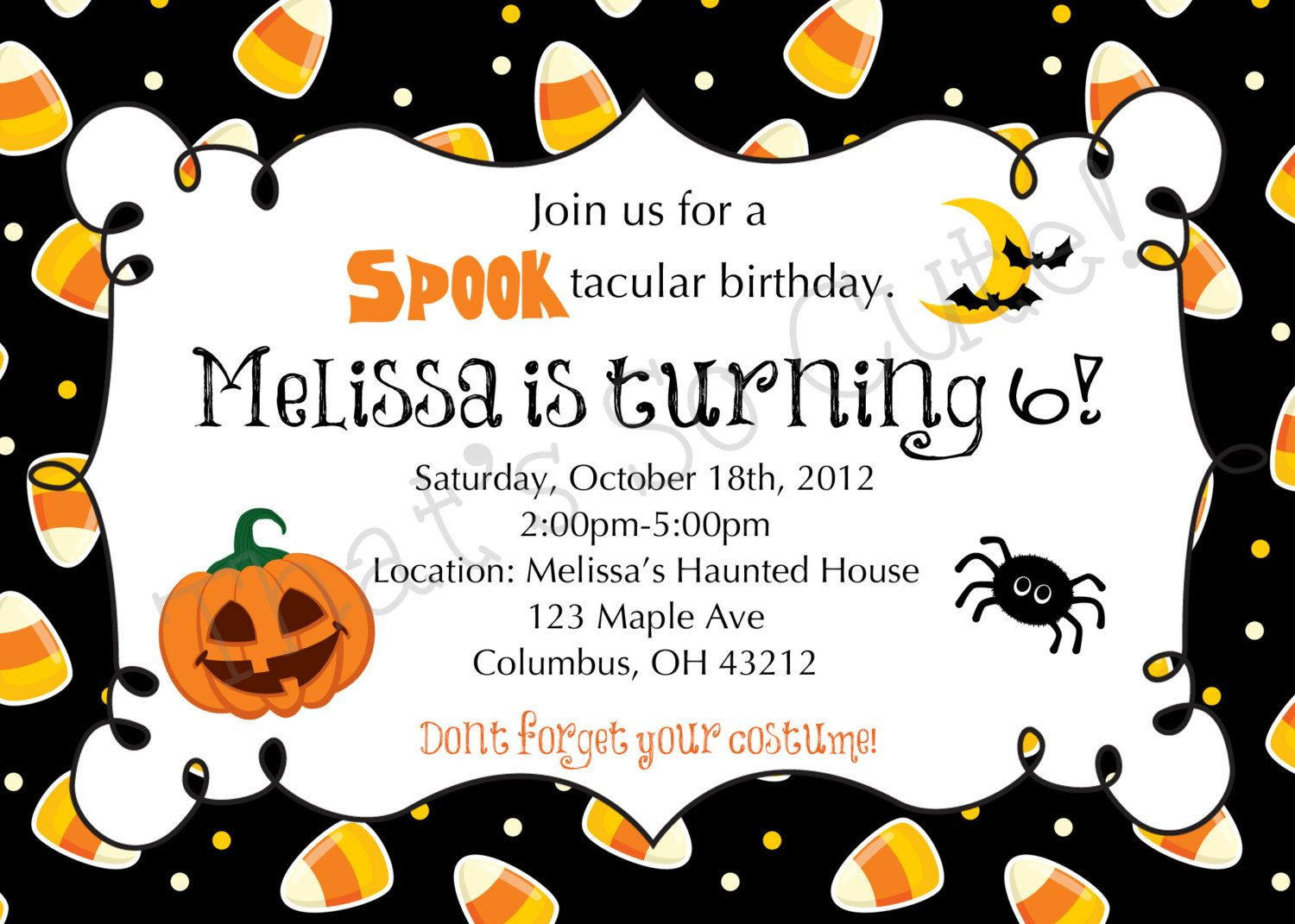 Download Free Template Free Printable Halloween Birthday Party - Free Printable Halloween Birthday Party Invitations
