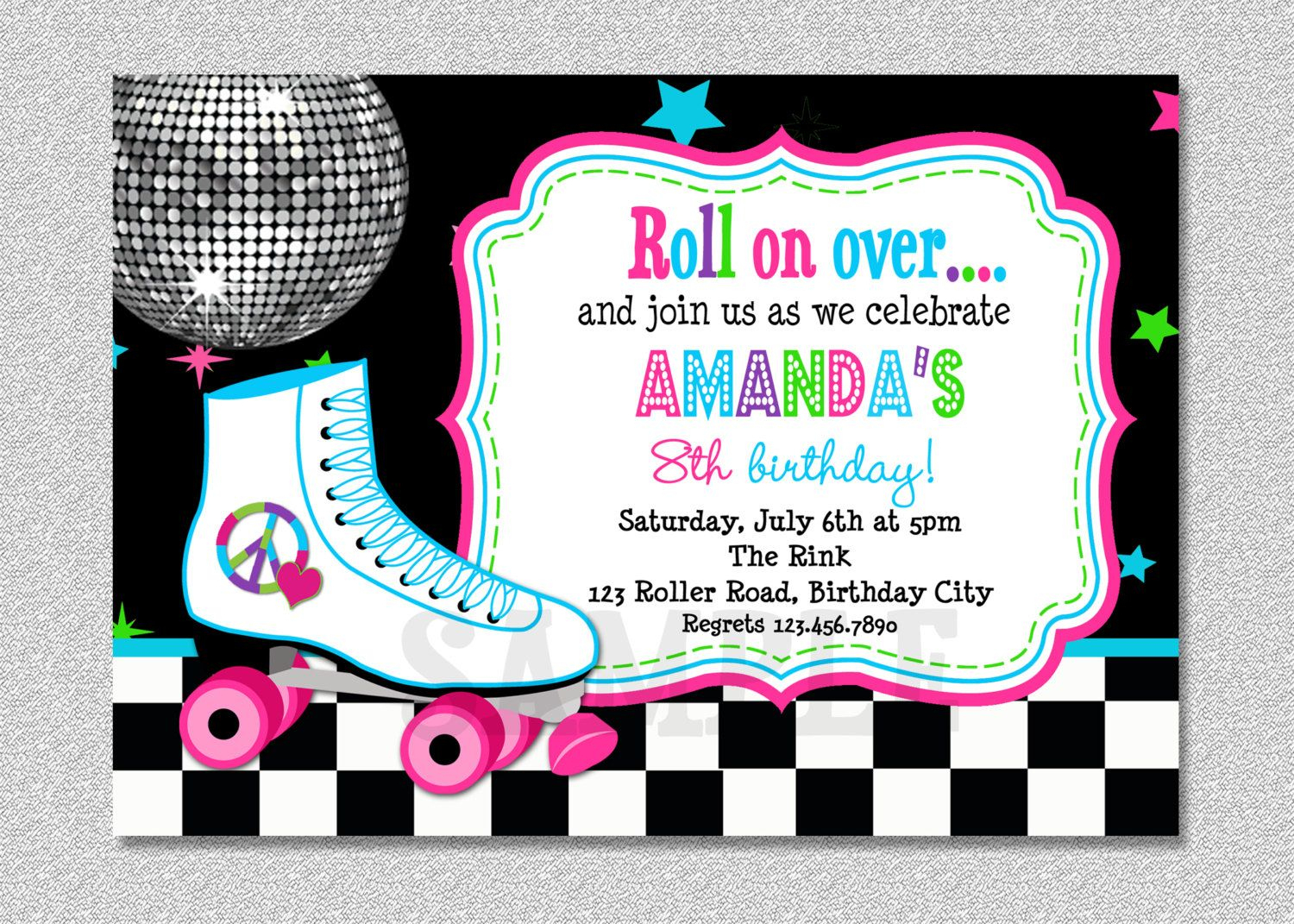 Download Free Template Free Printable Roller Skating Birthday Party - Free Printable Skateboard Birthday Party Invitations