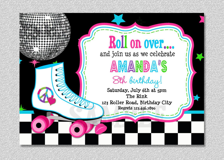 Download Free Template Free Printable Roller Skating Birthday Party - Free Printable Skating Invitations