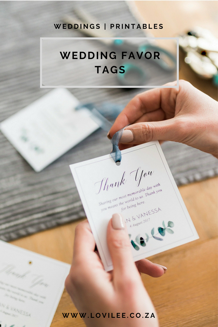Download These Free Printable Wedding Thank You Tags   Lovilee Blog - Free Printable Wedding Favor Tags