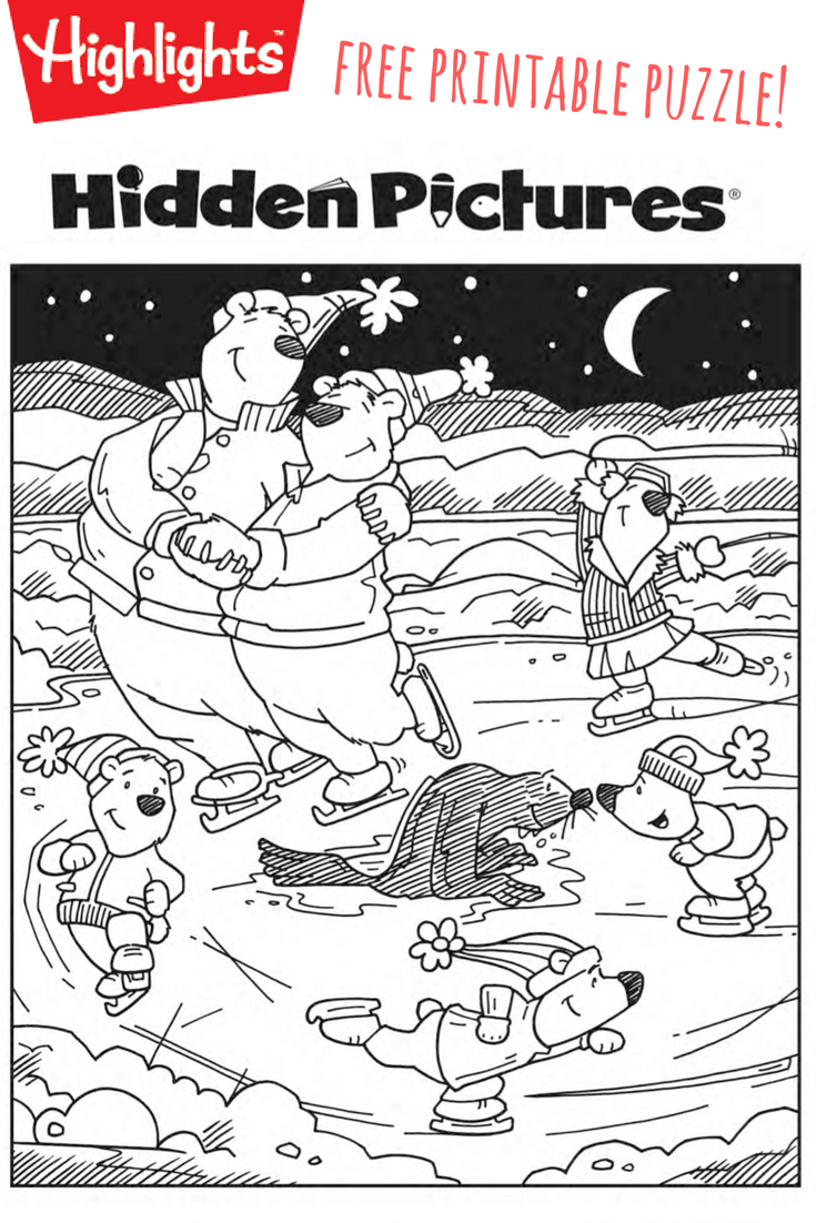 Download This Free Printable Winter Hidden Pictures Puzzle To Share - Free Printable I Spy Puzzles