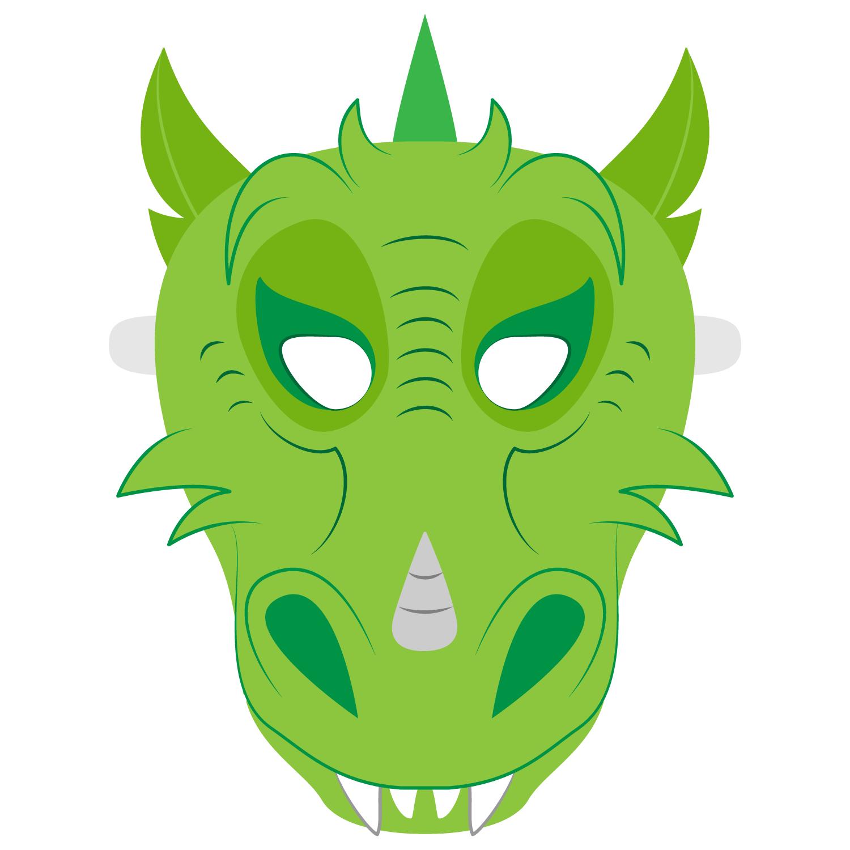 Dragon Mask Template | Free Printable Papercraft Templates - Dragon Mask Printable Free