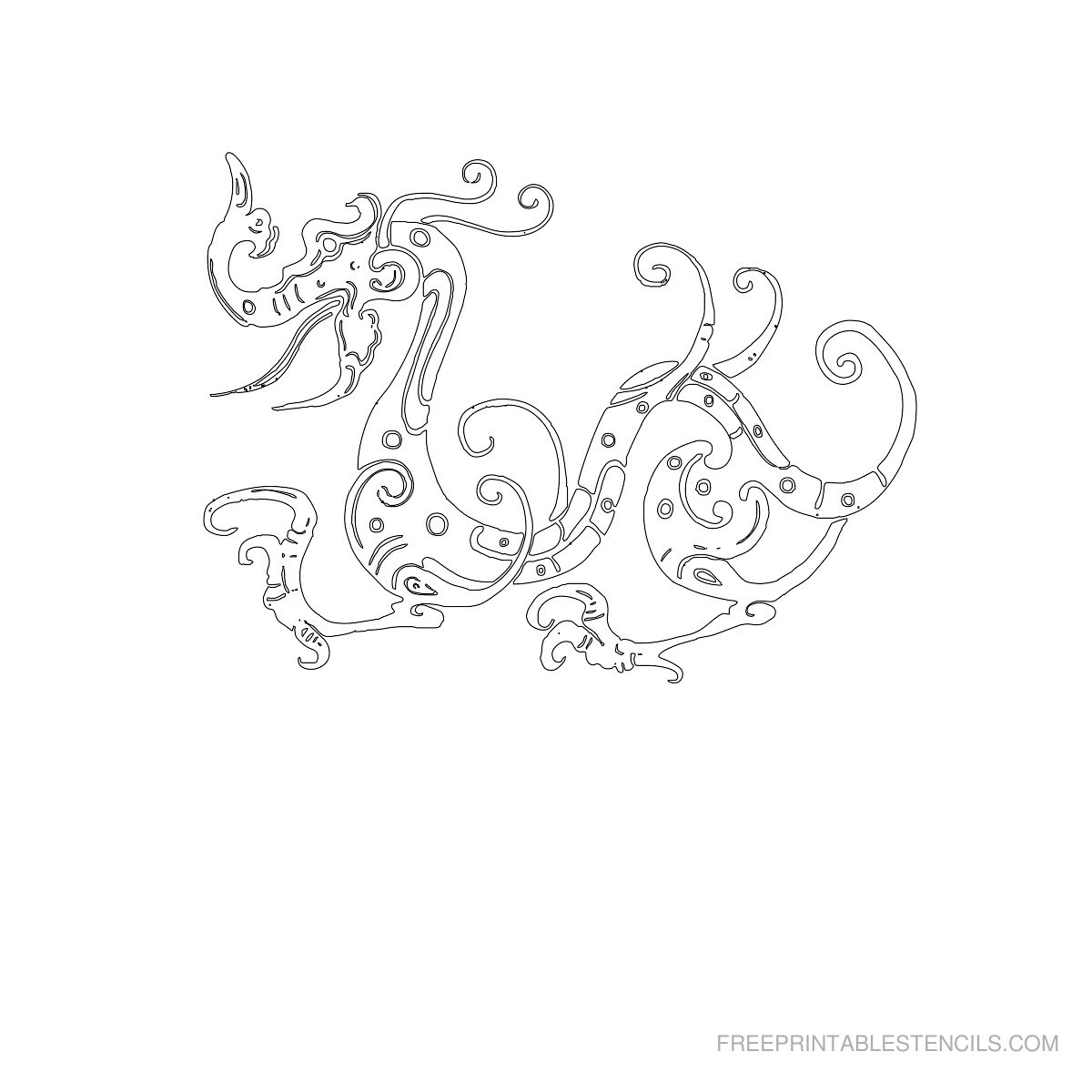 Dragon Stencils Printable Pictures | Free Printable Stencils - Free Printable Dragon Stencils