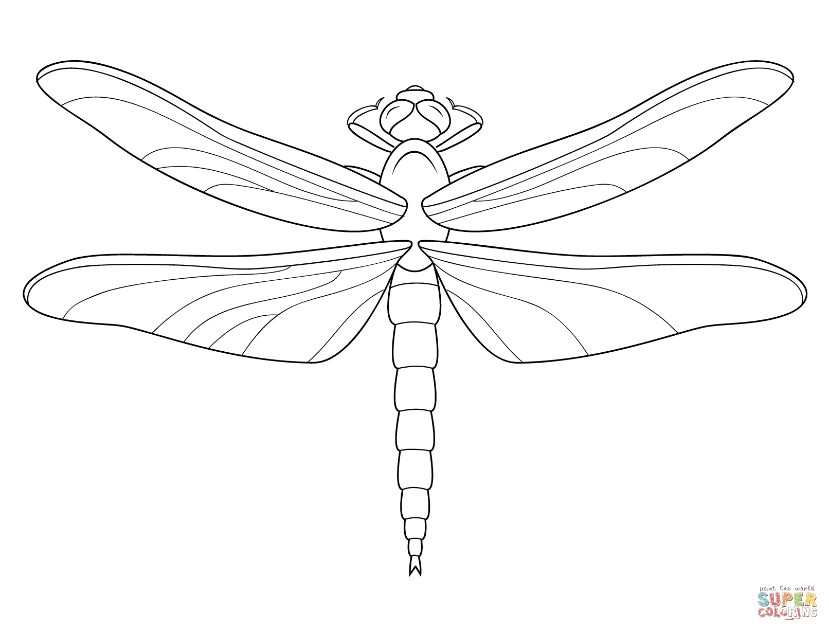 Dragonfly Coloring Page   Free Printable Coloring Pages - Free Printable Pictures Of Dragonflies