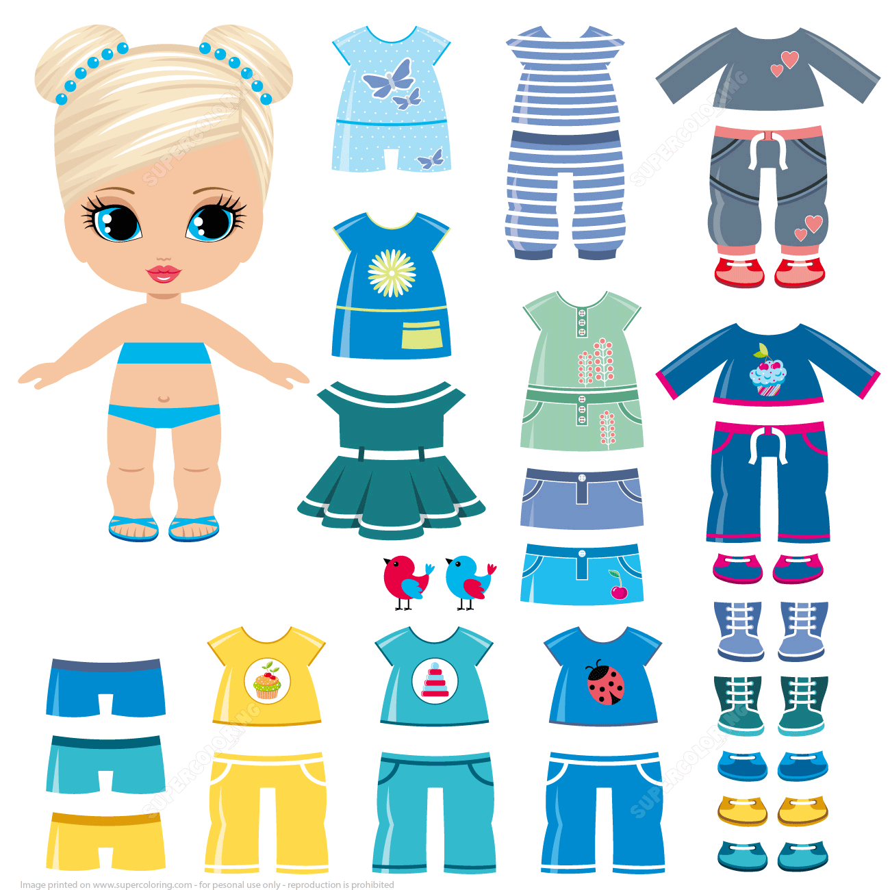 Dress Up Paper Dolls | Free Printable Papercraft Templates - Free Printable Dress Up Paper Dolls