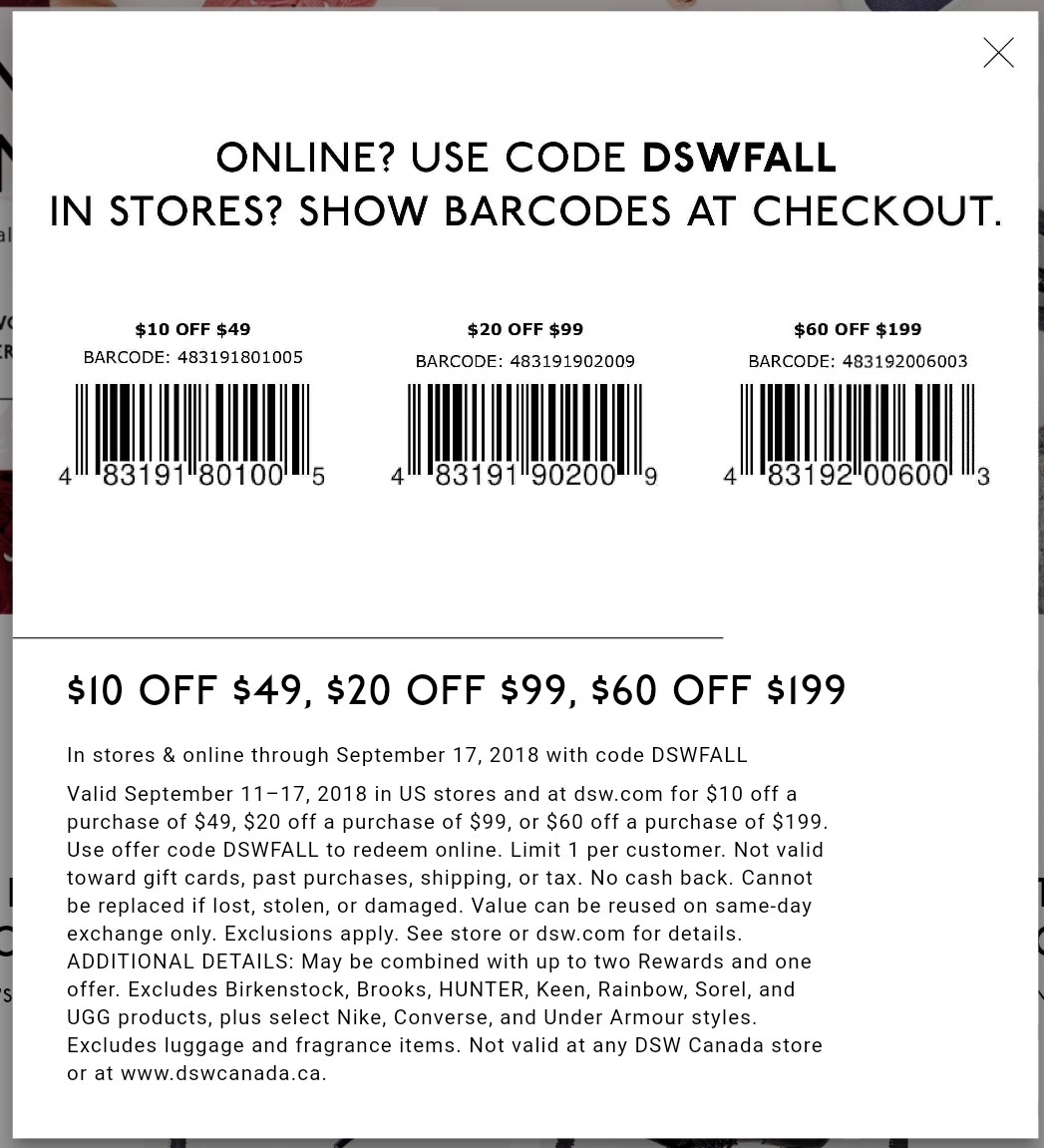 Dsw Printable Coupon - Printable Coupons 2019 - Free Printable Coupons For Dsw Shoes