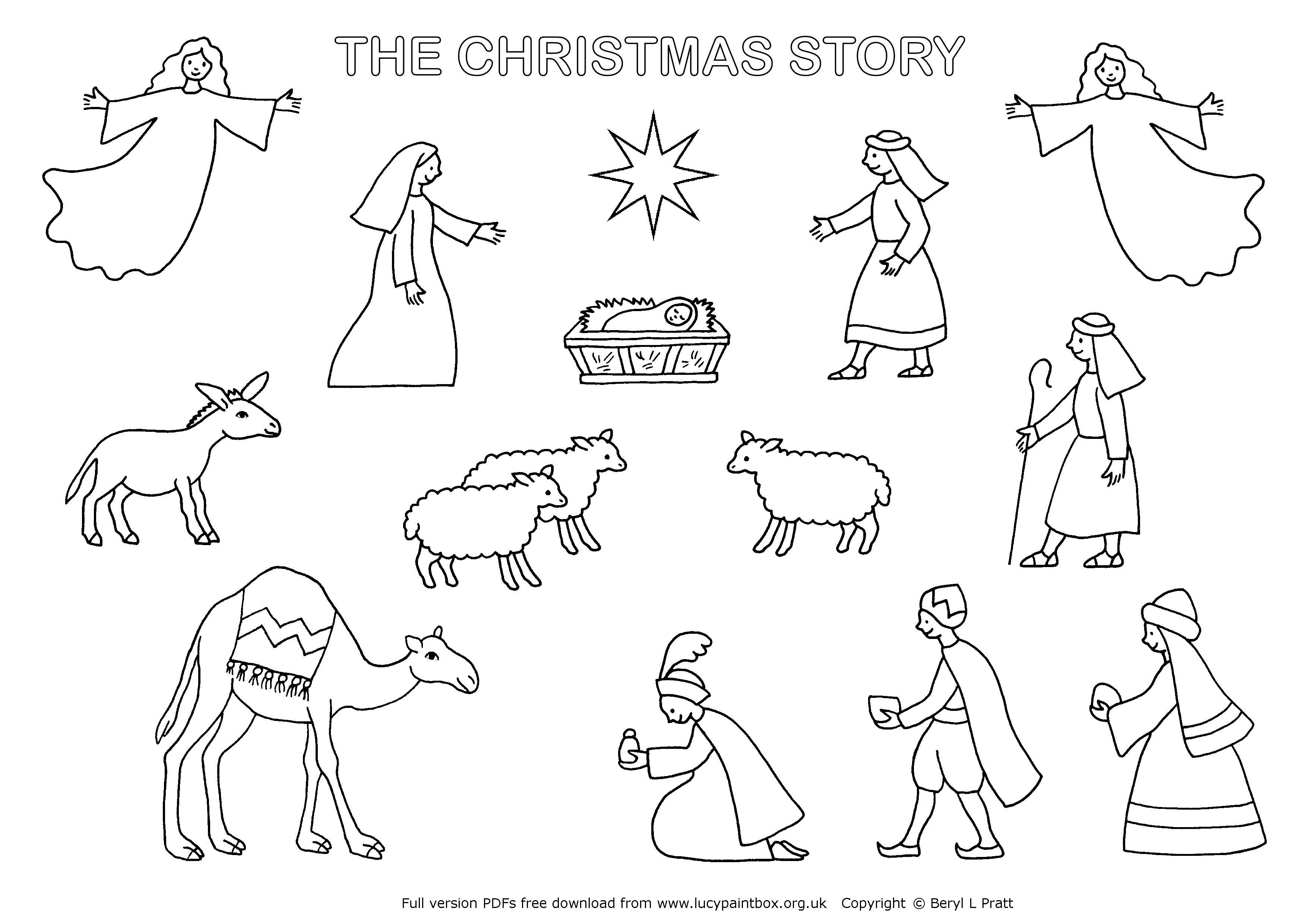 √ Christmas Nativity Coloring Pages To Print - Free Printable Nativity Scene Pictures