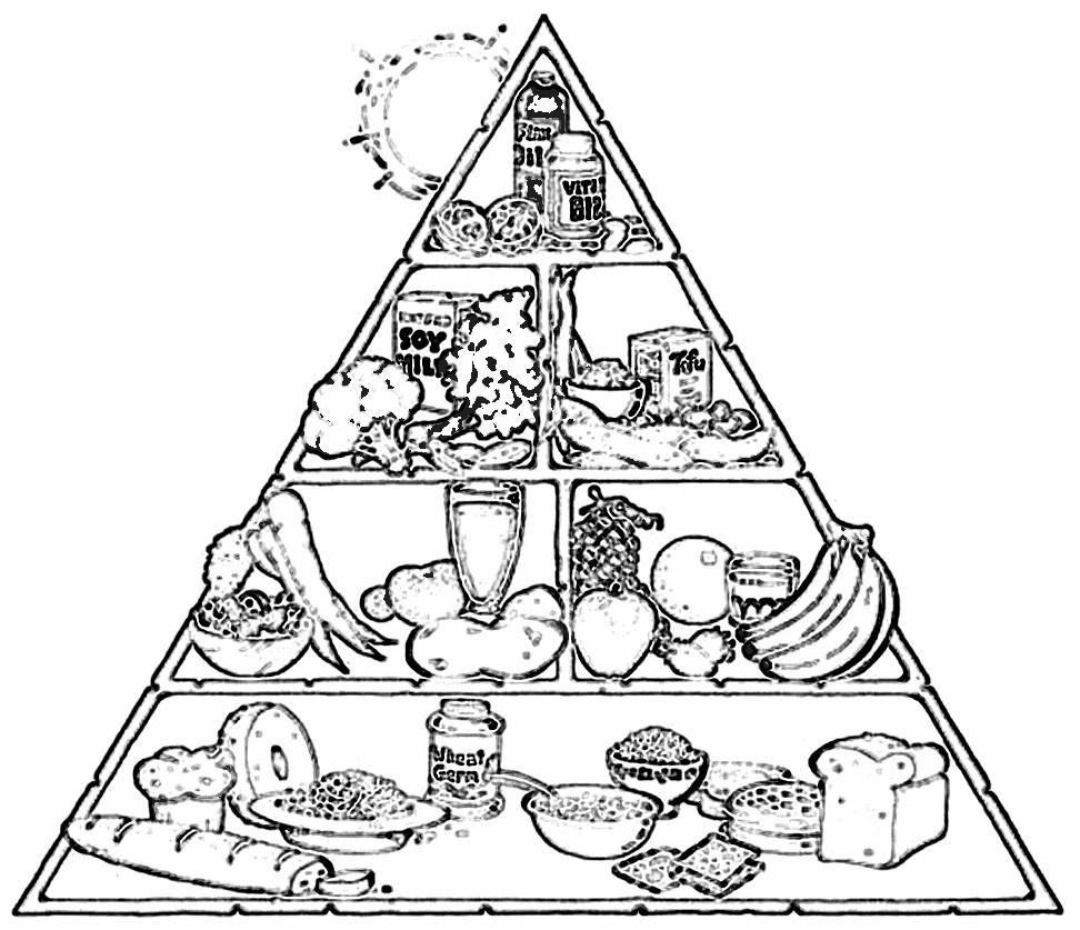 √ Free Printable Food Coloring Pages For Kids - Free Printable Food Pyramid