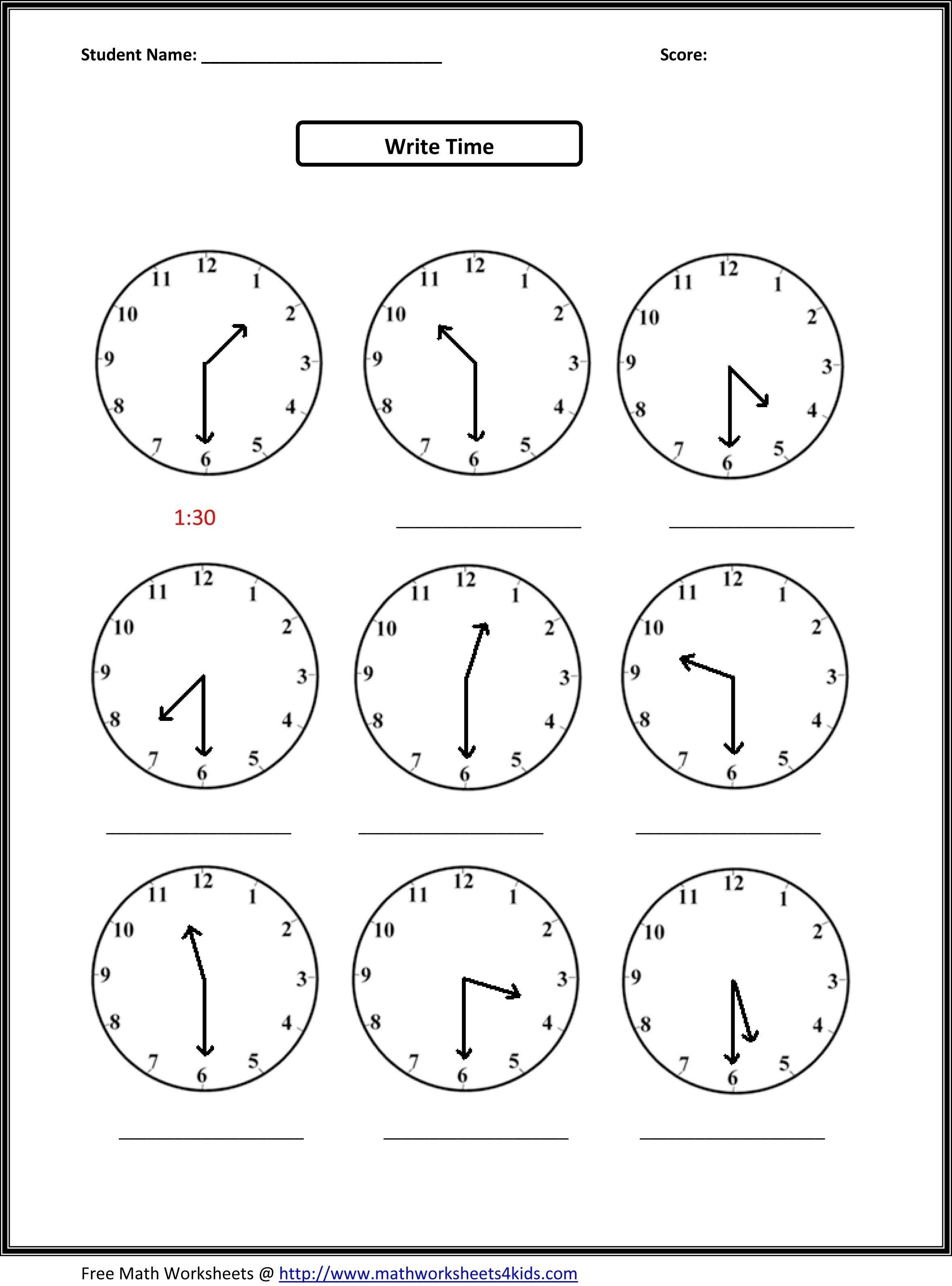 √ Telling Time Printable Worksheets First Grade Inspirationa - Free Printable Telling Time Worksheets For 1St Grade