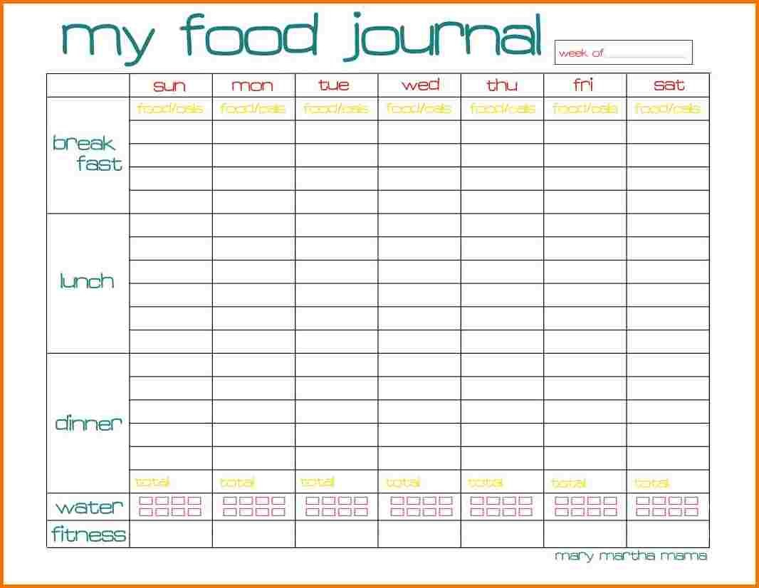 √ Weekly Calorie Counter Chart Printable Pictures To Pin On - Free Printable Calorie Counter Sheet