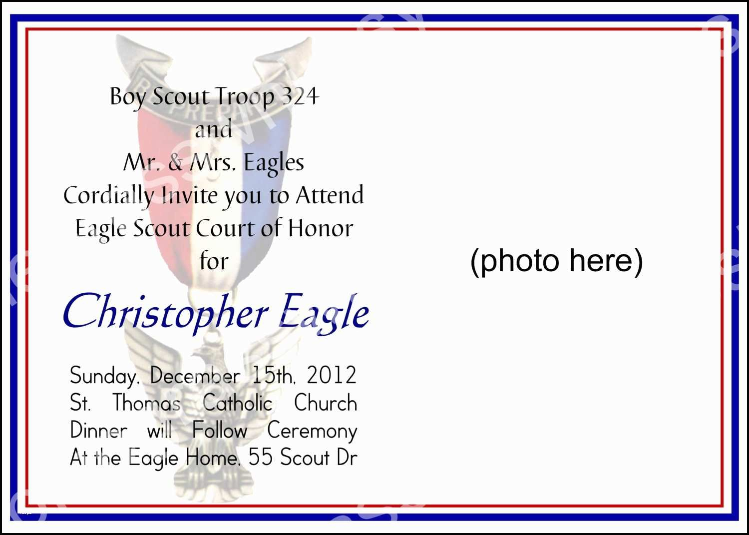 Eagle Scout Cards Free Printable Awesome Eagle Scout Thank You - Eagle Scout Cards Free Printable