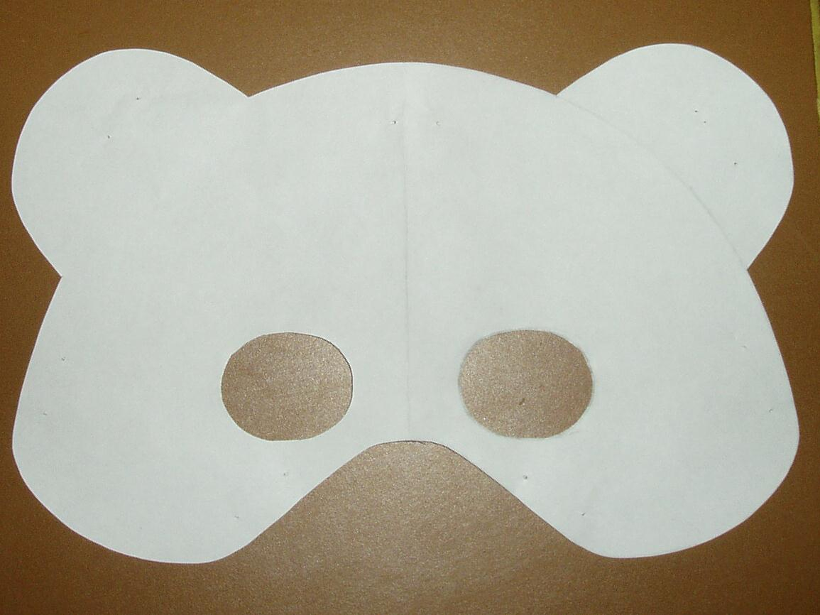 Early Play Templates: Teddy Bear Mask Templates To Print Out - Free Printable Bear Mask