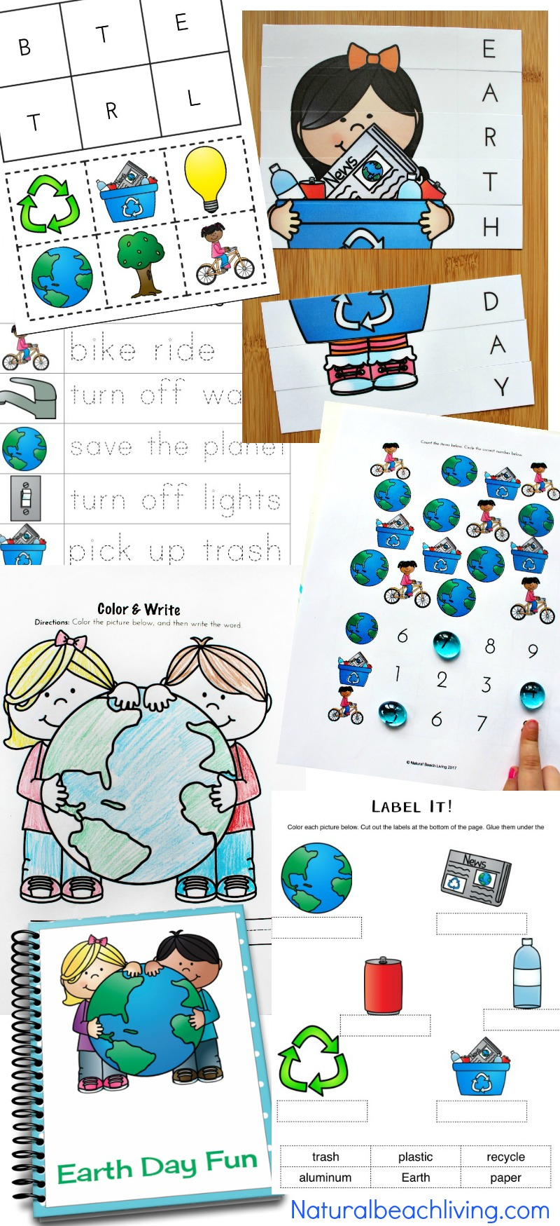Earth Day Activities Preschool & Kindergarteners Love (Free - Free Printable Alphabet Puzzles